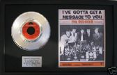 "BEEGEES-7"" Platinum Disc & songsheet- I'VE GOTTA GET A MESSAGE"